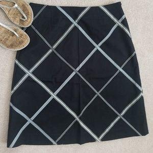 TALBOTS Ribbon A-Line Skirt